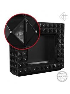 biokominek egzul z kryształami swarovski czarny połysk